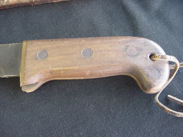 660: CASE XX BOLO KNIFE LEATHER SHEATH USMC GOVT 45 - 2