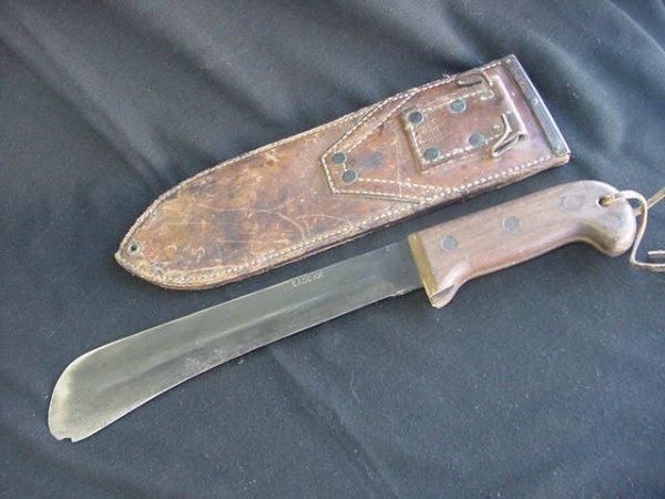 660: CASE XX BOLO KNIFE LEATHER SHEATH USMC GOVT 45 - 4