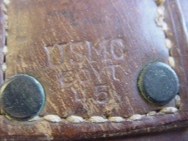 660: CASE XX BOLO KNIFE LEATHER SHEATH USMC GOVT 45 - 5