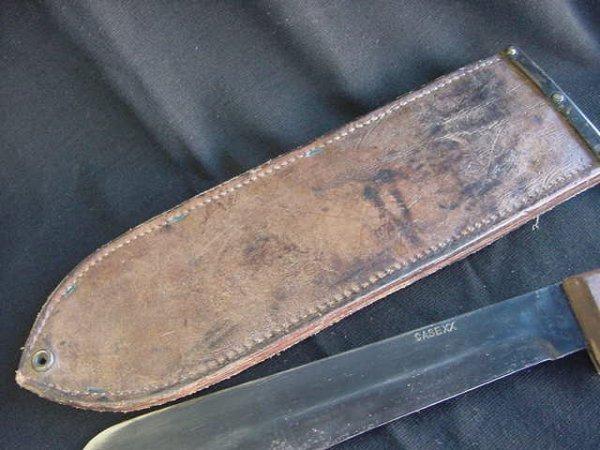 660: CASE XX BOLO KNIFE LEATHER SHEATH USMC GOVT 45 - 6