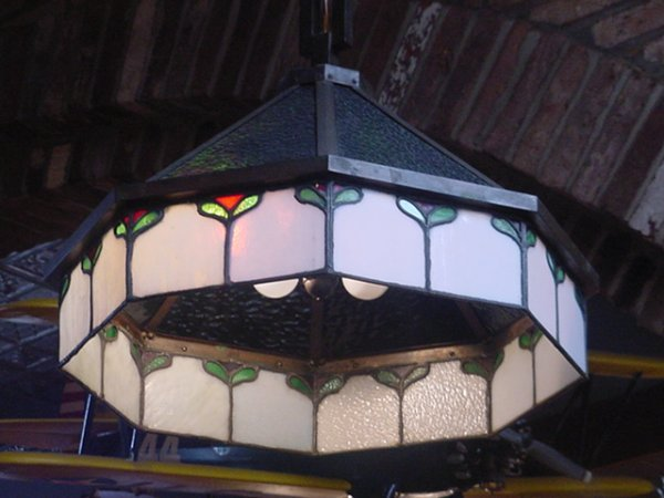 11: Tiffany Style Stain Glass hanging Light
