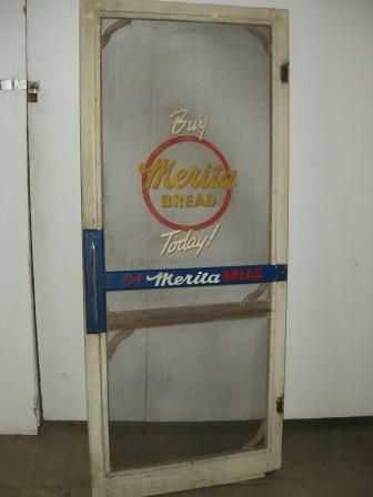 25a Country Store Screen Door Merita Bread Push Ba