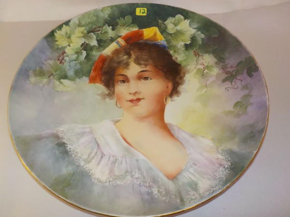 "Portrait Charger - young lady  14.5"" D Made by: D & Co."
