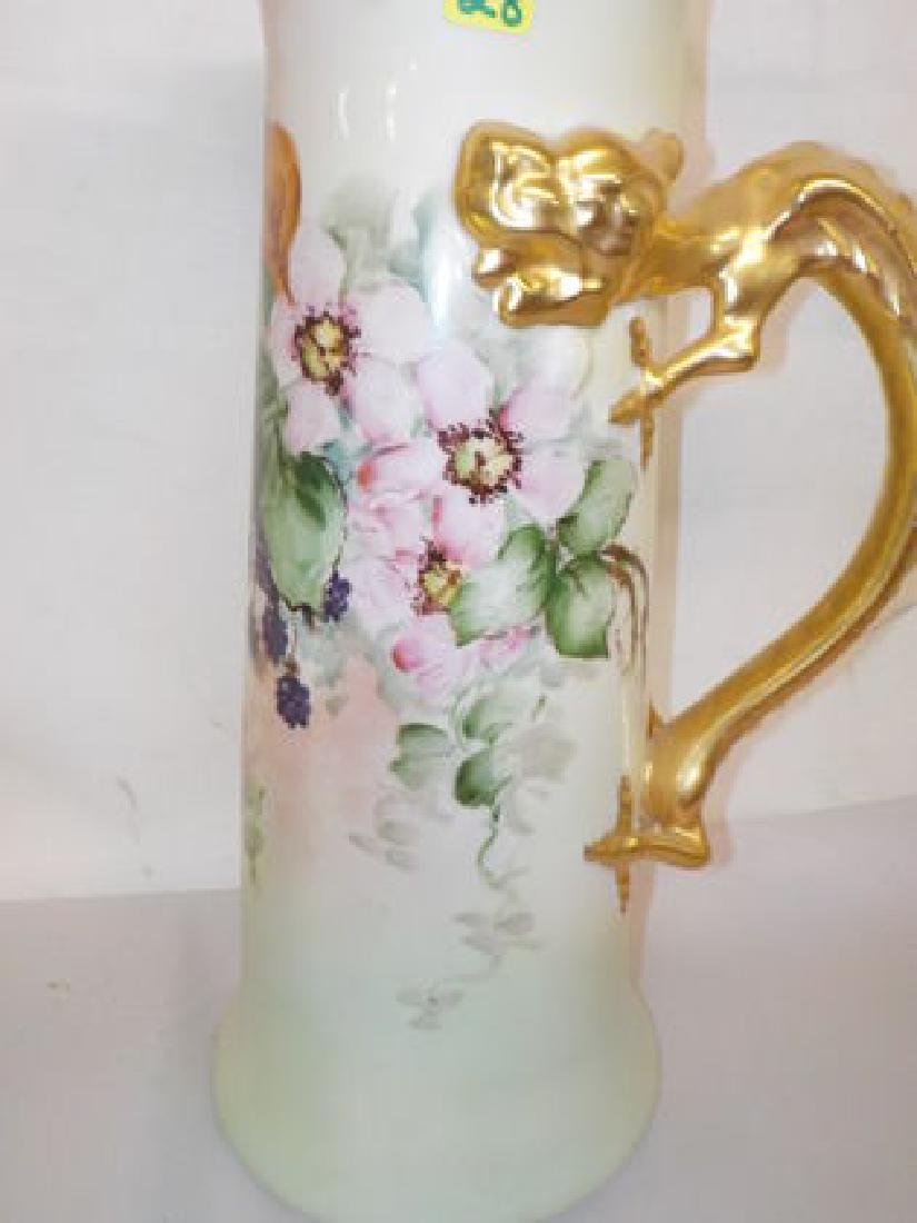 Handpainted Tankard with dragon handle and painted - 2