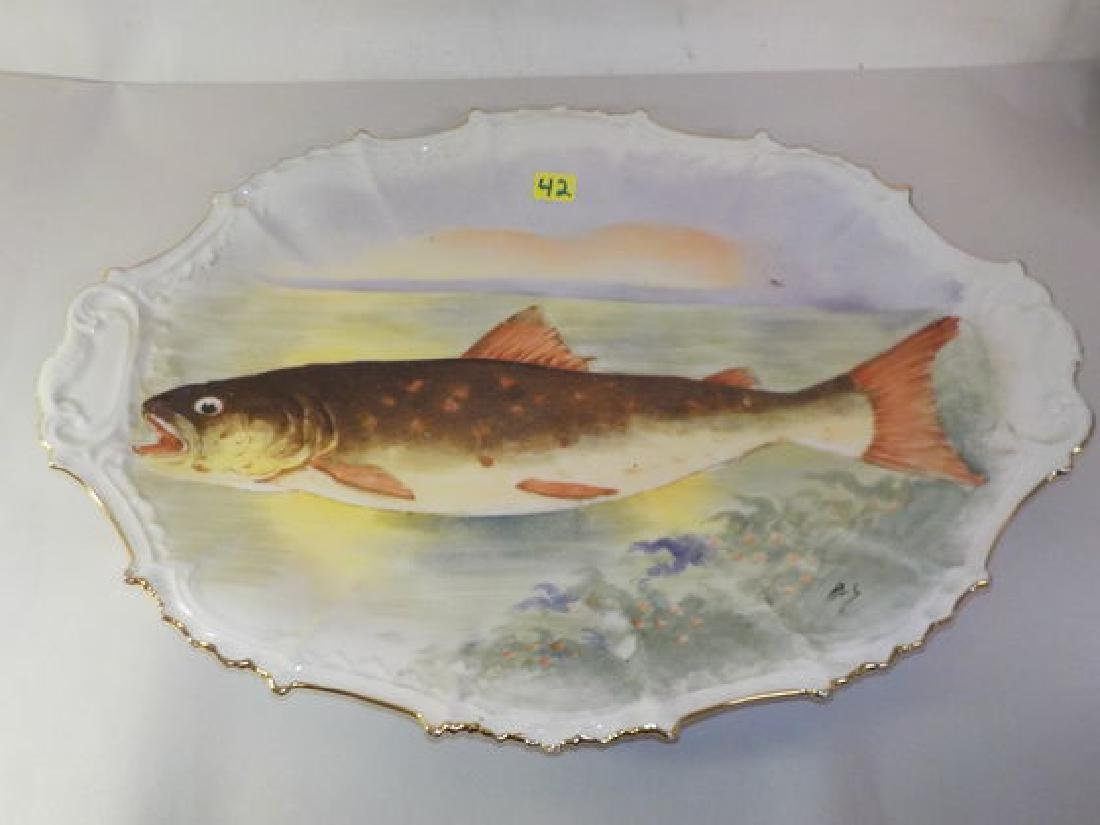 "Fish Platter 11.5"" W x 16"" D Made by: Coiffe- B & H"