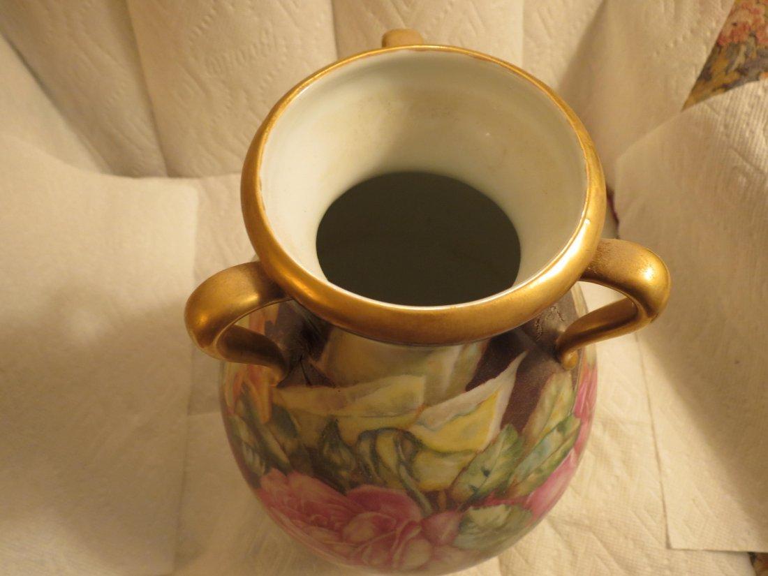 "Impressive 3 handle bulbous Vase 12"" H x 7"" W Made by: - 3"
