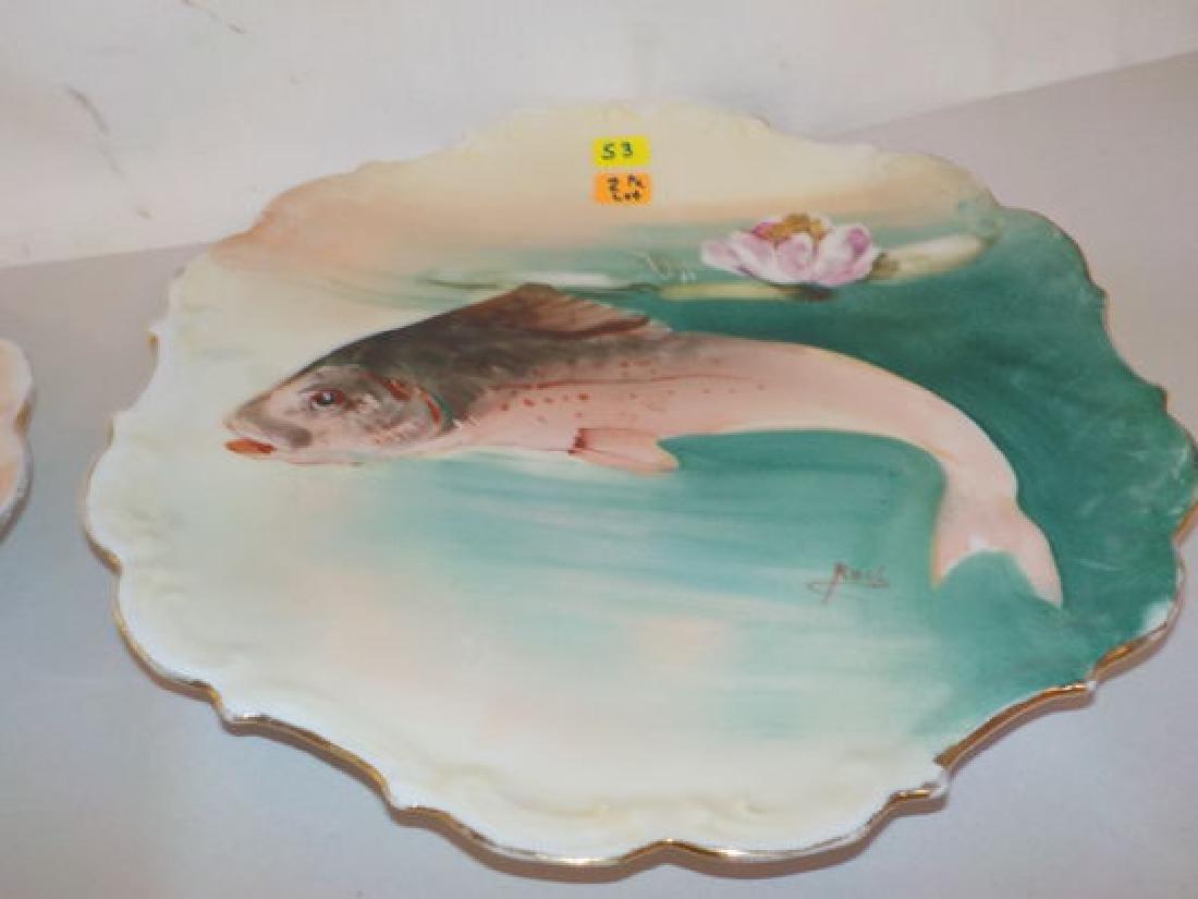 "2 pcs. Fish plates signed ROCH 11"" W Made by: Flambeau - 2"