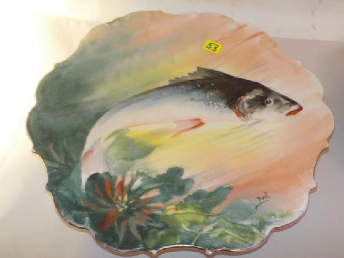 "2 pcs. Fish plates signed ROCH 11"" W Made by: Flambeau - 3"