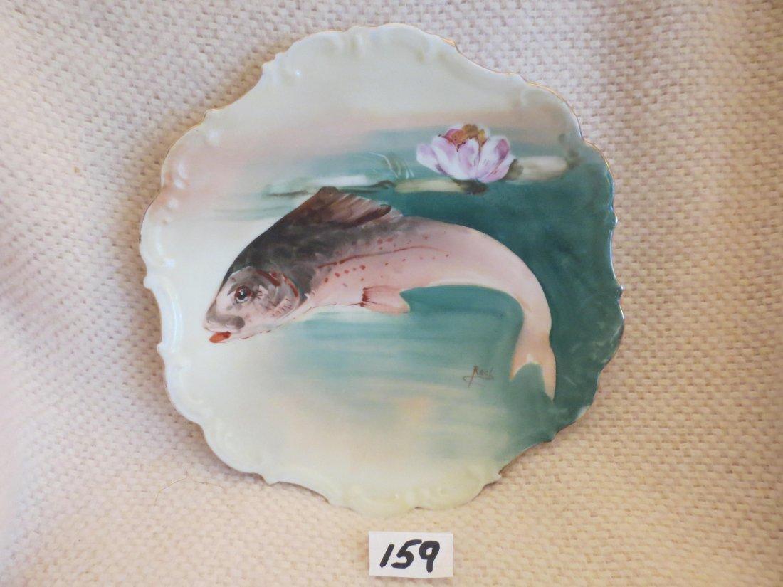 "2 pcs. Fish plates signed ROCH 11"" W Made by: Flambeau - 4"