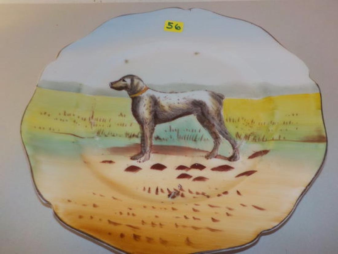 "Dog Plate 9.75"" W Made by: W.G. Signed: N Quantity: 1"
