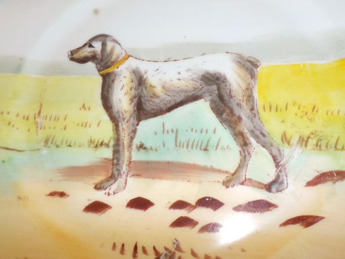 """Dog Plate 9.75"""" W Made by: W.G. Signed: N Quantity: 1 - 3"""