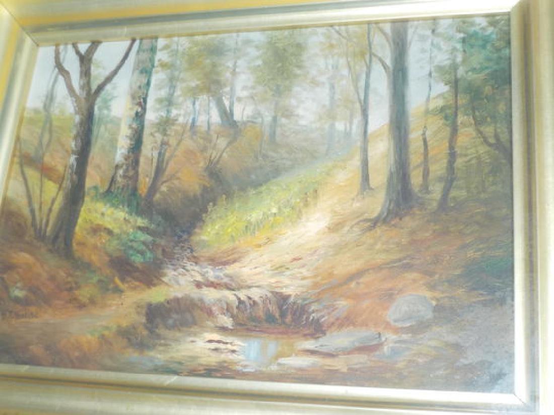 """M.T. Nordyke o.o.b. 9""""x13"""" Fall Landscape w/stream SLL"""