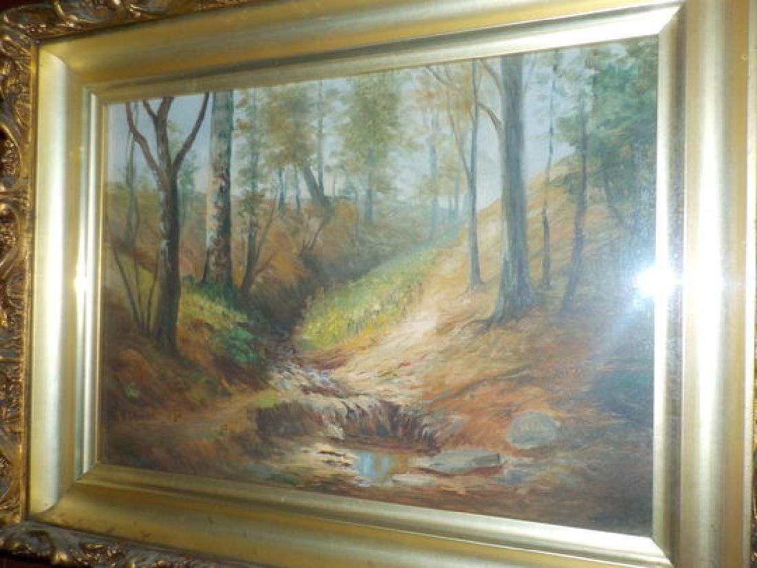 """M.T. Nordyke o.o.b. 9""""x13"""" Fall Landscape w/stream SLL - 2"""