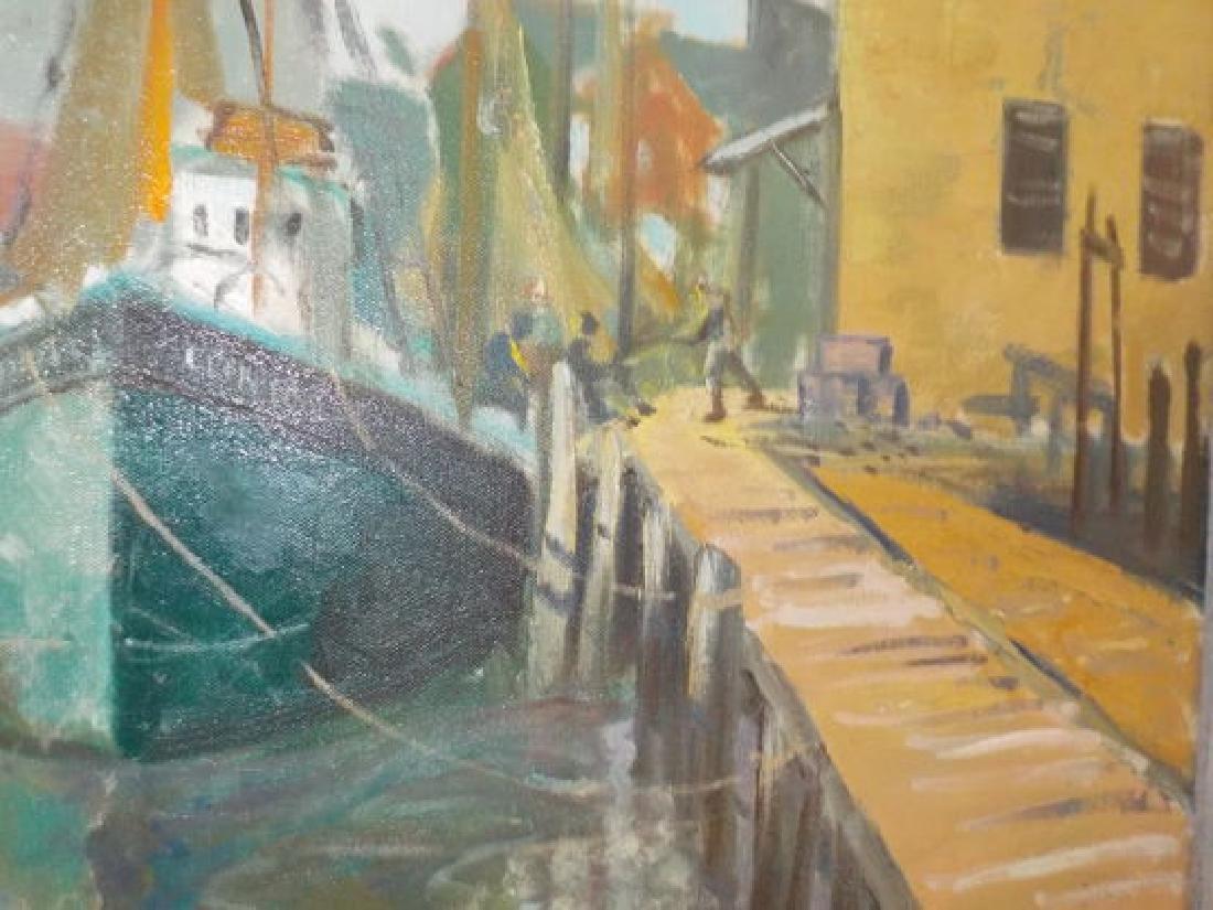 "Francis Clark Brown o.o.c. 25""x30"" Harbor Scene w/boats - 2"