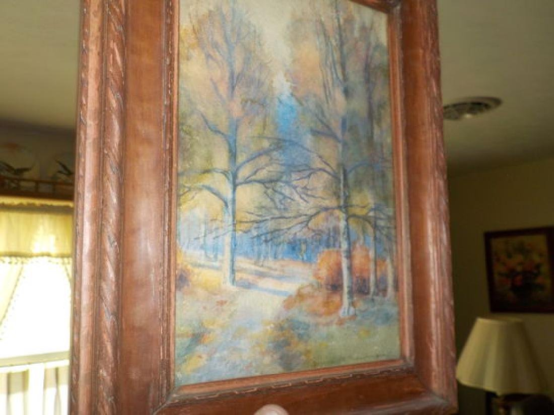 "Anna M.Newman, Pastel, 10""x6.5"" Colorful Fall Landscape"