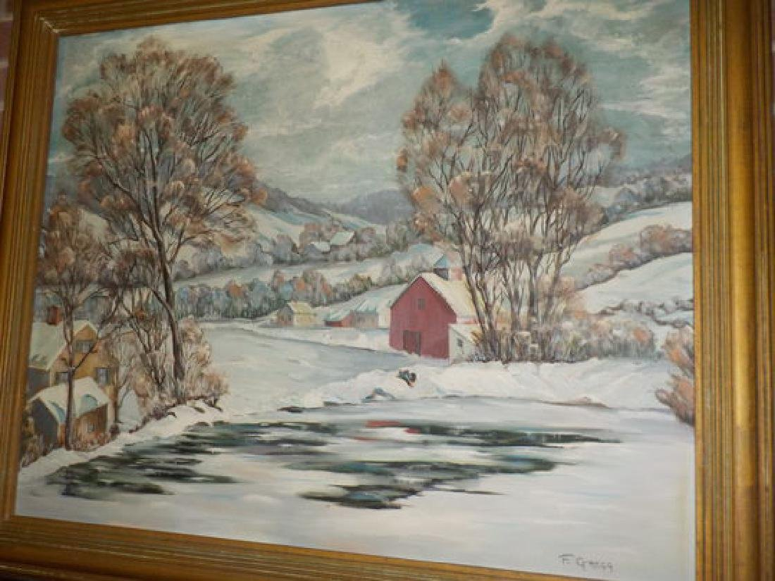 "Francis Gregg o.o.c. 24""x30"" Whitewater Valley Winter"