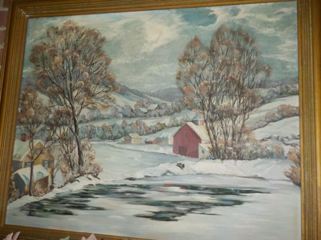 "Francis Gregg o.o.c. 24""x30"" Whitewater Valley Winter - 2"