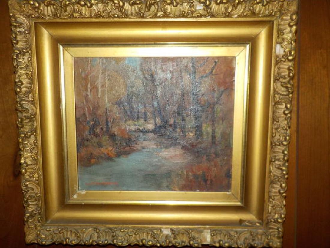 """H.R. Townsend o.o.c. 9""""x11"""" Winter Wooded Landscape - 2"""