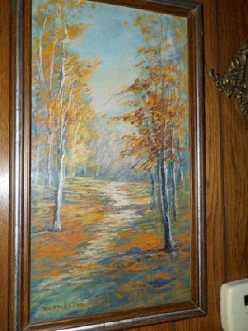 """Walter Eyden, W/C 19""""x10"""" Colorful Fall Landscape, SLL"""