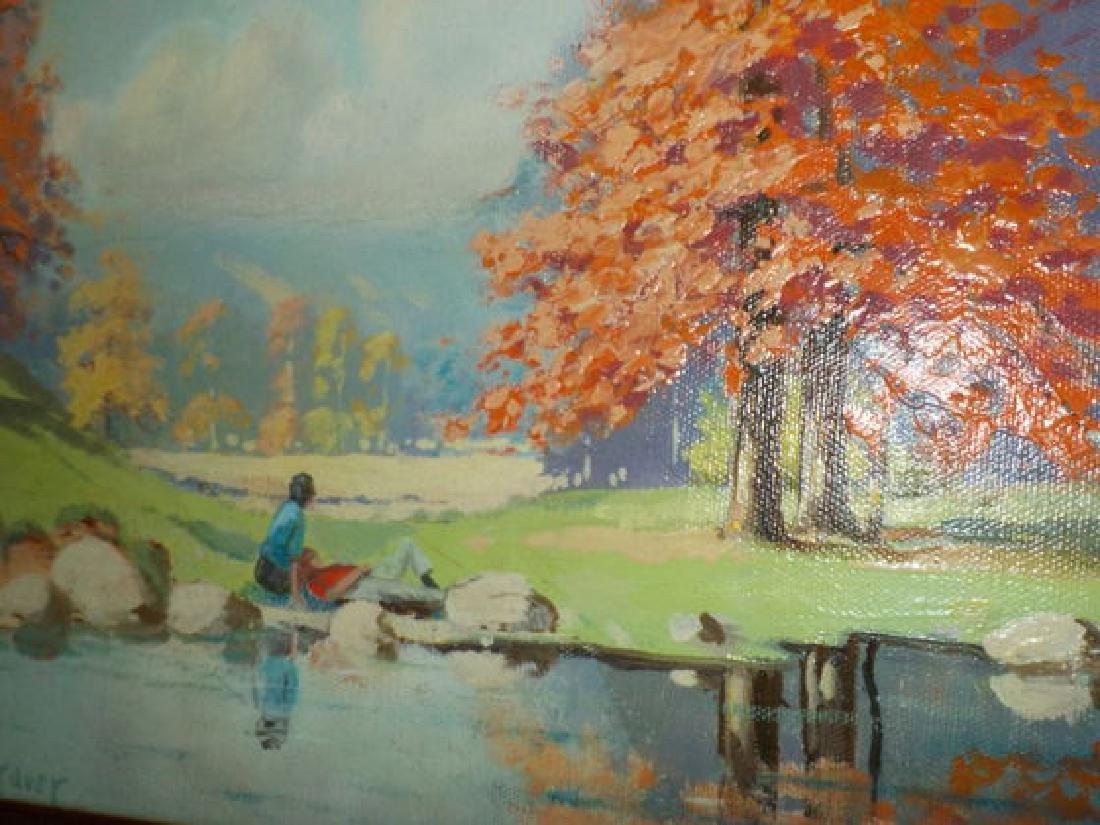 """Orrin Draver o.o.c. 12""""x16"""" Landscape w/colorful fall"""