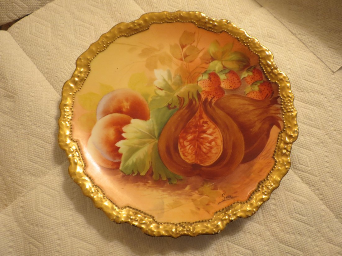 Decorative Wall Plate w/ peaches, strawberry &
