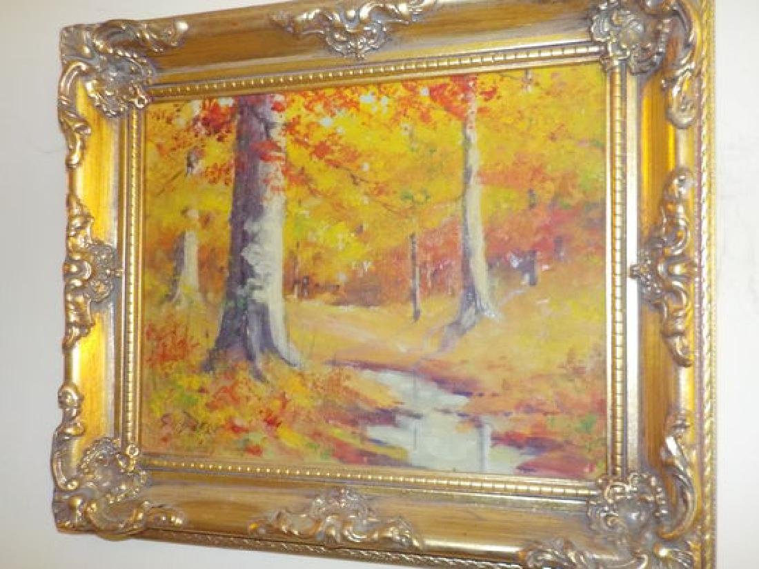 "GH Baker o.o.c. 8""x10"" Colorful Indiana Fall Landscape"