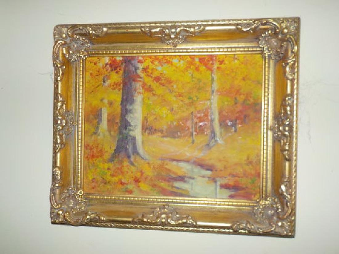 "GH Baker o.o.c. 8""x10"" Colorful Indiana Fall Landscape - 2"