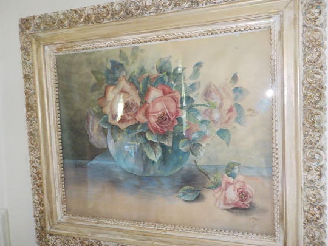 "Fred Pearce, W/C 18""x22"" Still Life of Roses, SML"