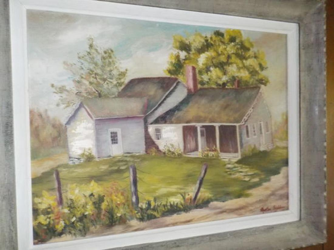 "Martha Bradshaw o.o.c. 18""x24"" Cottage along the"