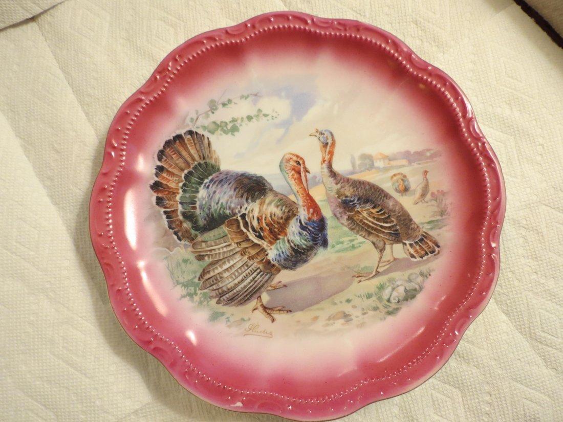 2 Limoges Turkey Plates
