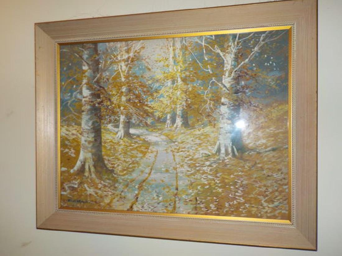 "William A. Eyden Jr. W/C 18""x24"" Fall Landscape w/beech"