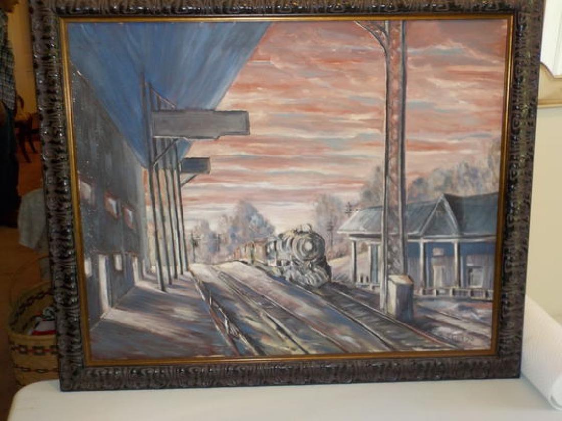 """Francis Gregg o.o.c. 24""""x30"""" Railroad Tracks"""