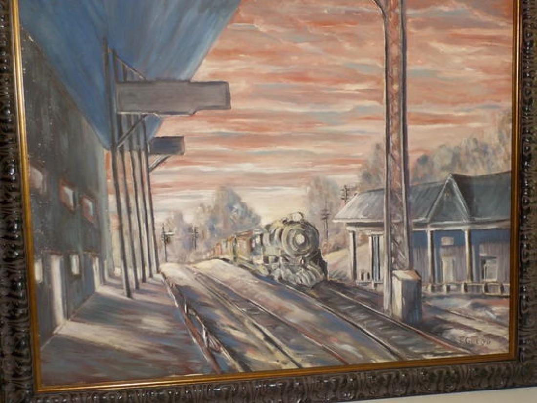 """Francis Gregg o.o.c. 24""""x30"""" Railroad Tracks - 2"""