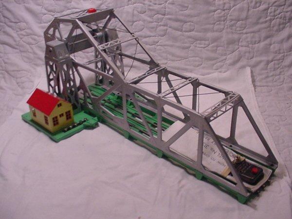 310: Lionel 313 Bascule Bridge Restored Tinplate.