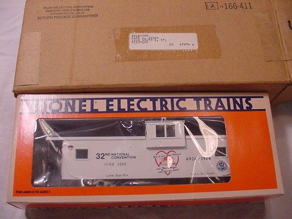 319: Lionel 6926 New Orleans E/V caboose 1986 TCA,MIB.