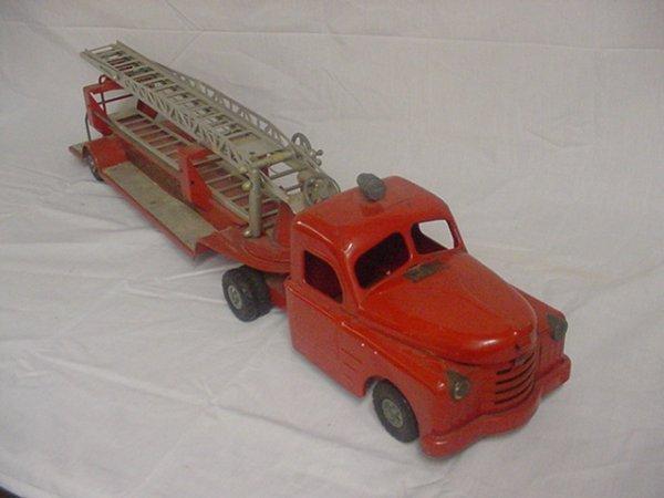 "708: Strucco  S.F.D. Fire truck Approx.33"" long."