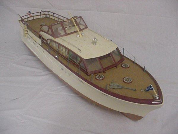 "709: Crist Craft Model Boat.Approx.29 1/2"" long."