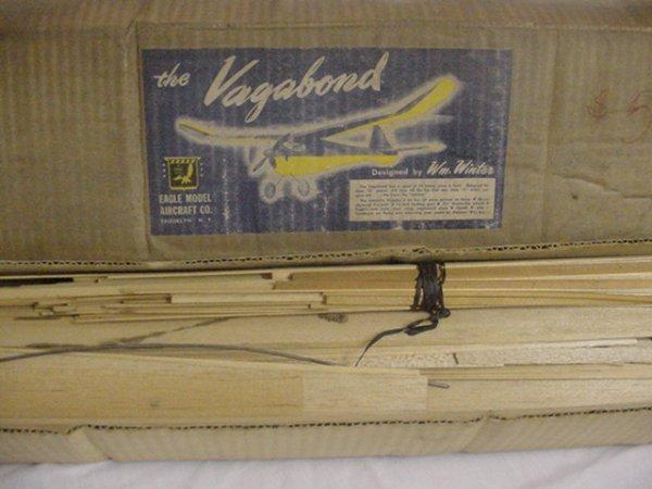 "714: The ""Vegabond"" Eagle Model Co.Airplane wood model"