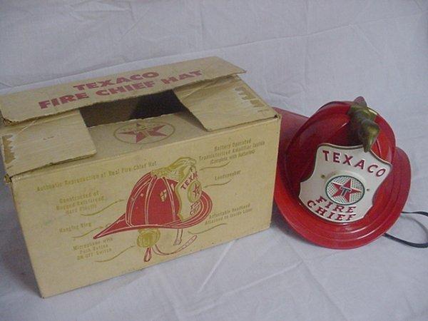"""715: Texaco """"Fire Chief"""" Hat in original box.Box damage"""