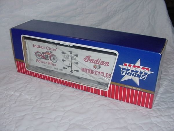 1: U.S.A. Trains R-16079 G scale Indian Motorcycle Box