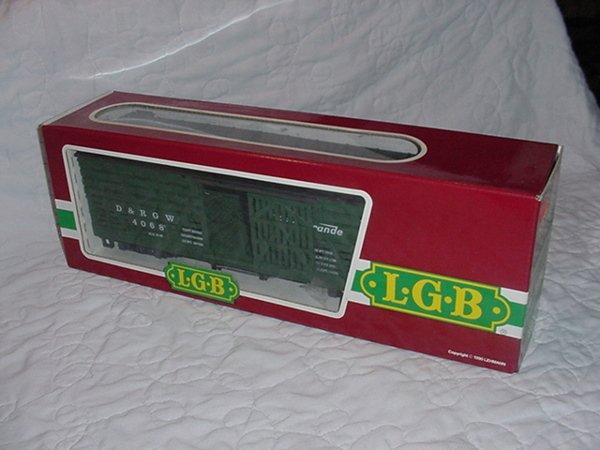 3: L.G.B. D&RGW Box Car Green 4068 G Scale.MIB.