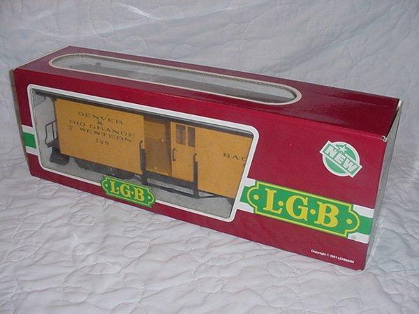 4: L.G.B D&RW Baggage Car Yellow 3084 G Scale.MIB.
