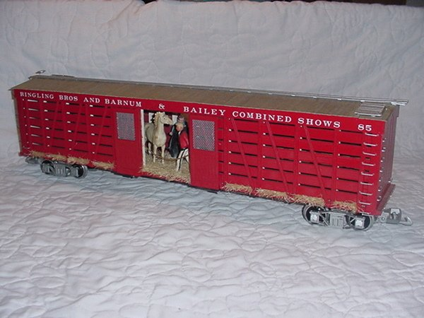 7: Ringing Bros and Barnum and Bailey Car G Scale MIB.