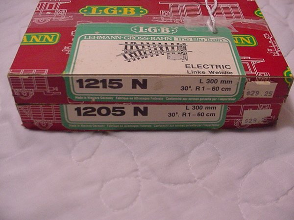13: L.G.B. 2 Boxes 1205N Switches G Scale MIB.