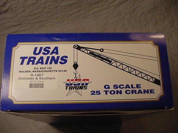 15: U.S.A. Trains 25 Ton Crane G Scale MIB.