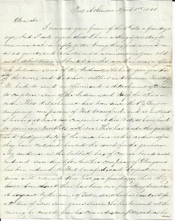 Indian Uprising, Winnebago Treaty