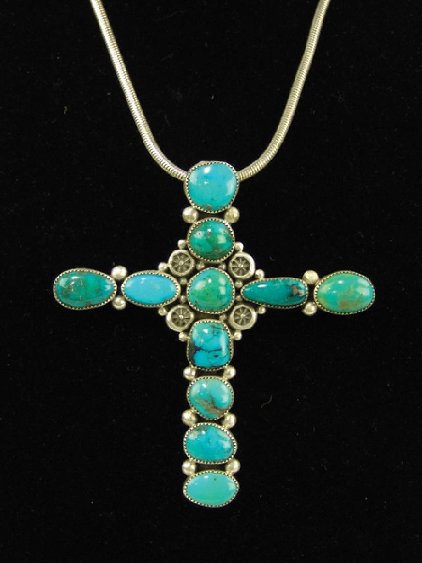 Navajo Cross Necklace - Ed Begay - 2