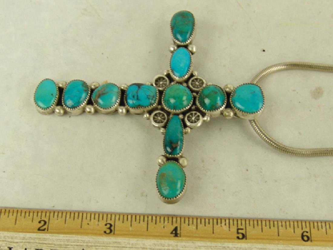 Navajo Cross Necklace - Ed Begay - 3