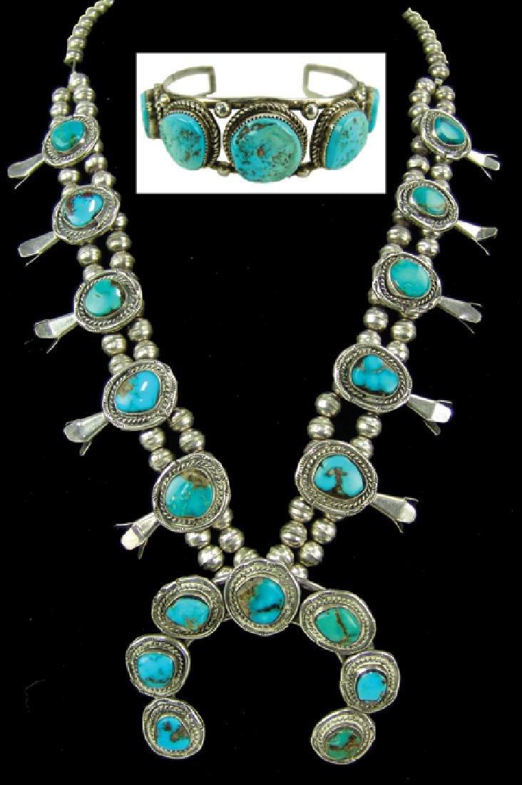 Navajo Necklace & Bracelet Set