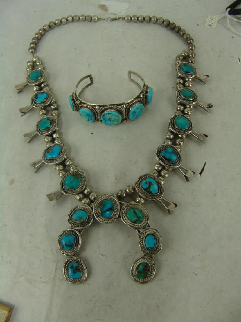 Navajo Necklace & Bracelet Set - 4